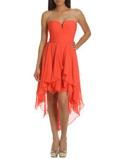 Arden B Shirred Bustier Tube Dress Coral Jazz Pink Extra Small XS