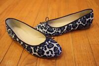 NWOB $160 J.CREW Women's Kiki Leopard Ballet Flats #A9866 SIZE 6 (SH1000