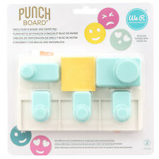American Crafts We R Memory Keepers Emoji Punch Board - 5 Punch Cut-Outs