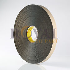 "3M 4492B Double Coated Polyethylene Double Sided Foam Tape Black 1"" x 72 Yds"