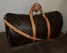 LOUIS VUITTON  KEEPALL Bandouliere 60 Duffle Travel Bag Luggage M41412 Authentic