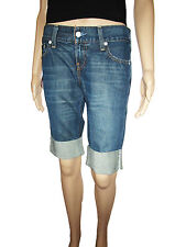 LEVIS Levi's #557 RRP £99 Indigo Square Fit Bordered Denim Crop Jeans Pants W27