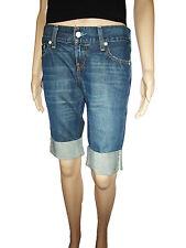 LEVIS Levi's #557 RRP £99 Indigo Square Fit Bordered Denim Crop Jeans Pants W27