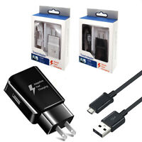 1/2/3 Pack Adaptive Fast Wall Charger Micro USB Cable For Samsung galaxy S7 S6
