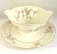 Rosalinde Theodore Haviland Gravy Boat with Attached Underplate New York