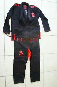 DW Sanabul Essentials V.2 Ultra Light Preshrunk BJJ Jiu Jitsu Gi A2 Black (L-42)
