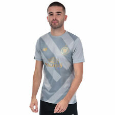 Mens New Balance Celtic Training Pre Match Shirt In Silver