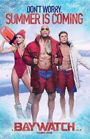 Baywatch Movie Poster Dwayne Johnson Zac Efron Limited Edition Cinemark 22x38
