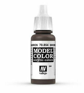 """Brown Glaze """"Model Color"""" Paint for model and Hobby (Vallejo 70854)"""