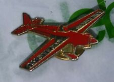Vintage Bud Light RED Sky Air Plane BEER Extremely RARE htf Old Button Lapel Pin