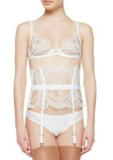 NWT La Perla Women's SMALL Neoprene Desire Suspender Belt White $945