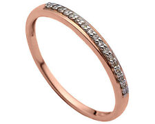 14ct Rose Gold Wedding Band Ring with Diamonds