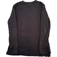 H&M Mens Knitted Jumper Small Slim Fit Grey Pullover