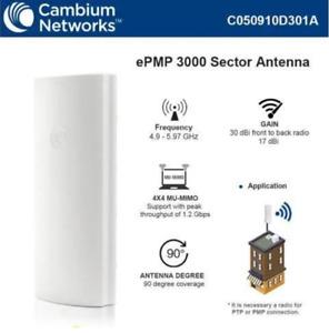 C050910D301 Cambium Networks ePMP 3000 Sector Antenna 17dBi 4X4 MU-MIMO 90Deg
