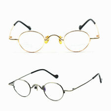 Pure Titanium Super Small Oval Gold Full Rim Eyeglass Frames Glasses Spectacles