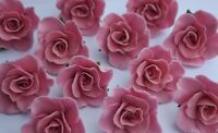 12 edible ROSES 3cm cake decorations CUPCAKE TOPPER wedding BIRTHDAY christening
