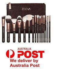 15Pcs Zoeva Rose Gold Makeup Brush Set Cosmetics Eye Foundation Kit Bag Case Hot