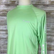 Columbia Pfg Deep Waves Long Sleeve Shirt Men's Medium in Green ~Read~