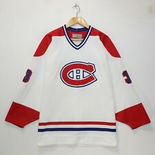 VTG Patrick Roy Montreal Canadiens CCM NHL Authentic Jersey Size 48 Fight Strap