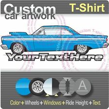 Custom T-shirt inspired on 64 1964 Mercury Comet Cyclone Caliente 289 V8 427 car