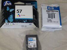 Genuine HP 56 HP 57 Cartridges 3 cartridges total New