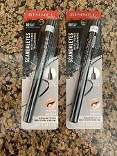 2 Rimmel Scandaleyes Waterproof Micro Eyeliners - 001 Black