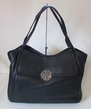 Tory Burch Amanda Easy Tote Large black tumbled leather purse bag luggage