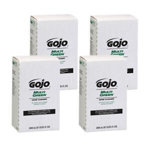 GOJO MULTI GREEN Hand Cleaner Refill, Citrus Scent, 67.63 Oz, Pack Of 4 Refills