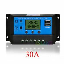 LCD Display Solar Panel batería Regulator Charge Controller Dual USB 30A 12V/24V