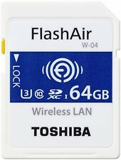 TOSHIBA FLASHAIR W-04 WIRELESS LAN SDXC  90MB/s Read 64GB C10 MEMORY CARD NEW A