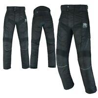 ARN® New Motorbike Motorcycle Waterproof Textile Trousers Pants CE Armours BLACK