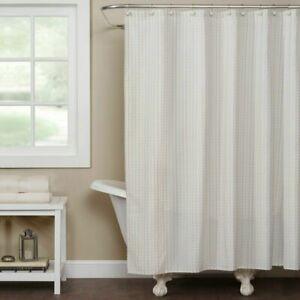 Saturday Knight LTD Hopscotch Fabric Shower Curtain Cream green nwop