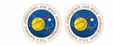 2x Nasa Logo Sticker Aufkleber Car Seal Apollo Space Mission Star Wars Shuttle