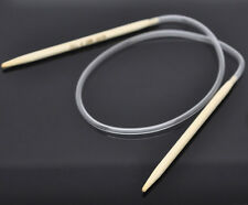 1PC Bamboo 40cm Circular Knitting Needle(US Size 7/ 4.5mm)