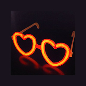 1 PACK x Glow Heart Shaped Glasses individually wrapped Light Sticks Glow Party