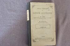 COURS COMPLET DE LANGUE ALLEMANDE / M. LÉVY  / COURS SUPÉRIEUR GRAMMAIRE / 1867
