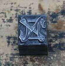NZ ZN monogramme initialement pression étage cliché tampon lettre initiale vintage