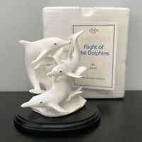 Lenox Flight of The Dolphins Sea Animals on Wave White Bone China Sculpture MIB
