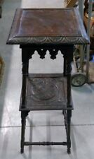 Trespolo in legno scolpito cm 100x39x39 - Antikidea