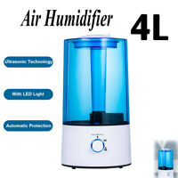 24dB Ultra Quiet Up to 35h Run Time MEGAWISE Humidifiers for Bedroom 3.5L Ultrasonic Cool Mist Humidifier Diffuser with 7-Color Night Lights Top-ReFill Evaporator for Kids with Microporous Filters