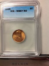1956 ICG MS67 RD Lincoln wheat cent Price Guide $ 550.00