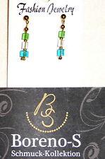 Mode-Ohrschmuck im Ohrstecker-Stil aus Glas mit Perlen (Imitation)
