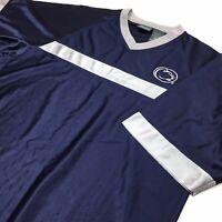Pro Edge Mens Large Blue/Gray Penn State V-Neck Active Wear Short Sleeve Shirt