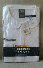 French Toast School Uniform White Long Sleeve Peter Pan Shirts girls size 18 NEW