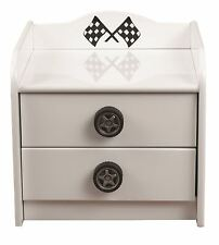 All Home Sonic Racer 2 Drawer Bedside Table