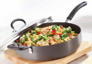 Tefal Hard Anodized Aluminium Thermo Spot Deep Saute Pan 30cm/4.75L with Lid