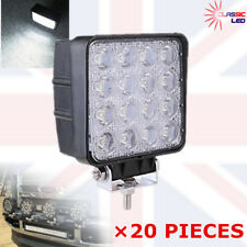 20 X 48W LED Flood Work Light Offroad john deere valtra fendt Tractor 12V 24V