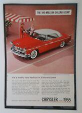 Vintage 1955 Chrysler Windsor Deluxe Nassau -  Full Page AD