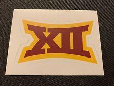 "Big 12 Logo - Iowa State Cyclones Cardinal & Gold Decal Sticker 4"" x 2.4"""