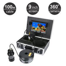 100M Fish Finder Underwater Fishing Camera 9 Inch 360 Degree Rotating 22 Pcs Led